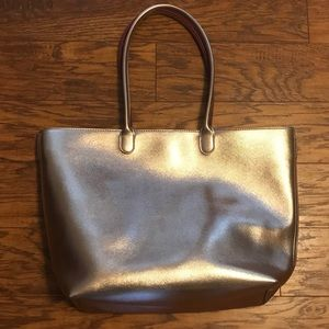 Rose Gold Zippered Tote Bag